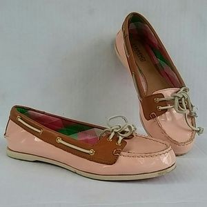 Sperry Top Slider Pink Leather Size 8M
